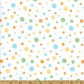 Critter Patch Dot Organic Cotton Fabric - White