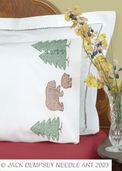 Jack Dempsey Pillowcases - Perle Edge - Bears