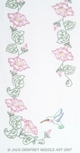 Jack Dempsey Table Runner/Scarf - Hummingbird