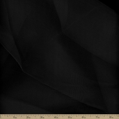 Crystal Organza Polyester Fabric - Black