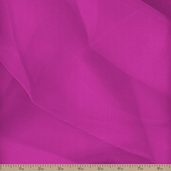 Crystal Organza Polyester Fabric - Hot Pink