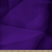 Crystal Organza Polyester Fabric - Purple