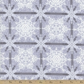 Crystal Palace Squares Cotton Fabric - Grey