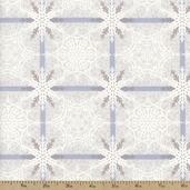 Crystal Palace Squares Cotton Fabric - Light Grey