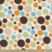 Cuddle Minky Bubble Dot Polyester Fabric - Brown