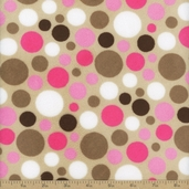 Cuddle Minky Bubble Dot Polyester Fabric - Fuchsia