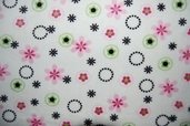 Cuddle Minky Fabric - Daisy Ring Pink