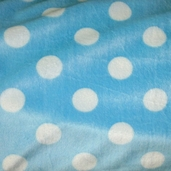 Cuddle Minky Jumbo Dot - Baby Blue