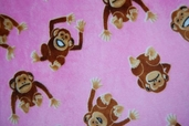 Cuddle Minky - Monkey Business - Hot Pink