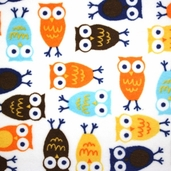 Cuddle Minky - Night Owl Orange/ Brown