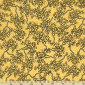 Cultivate Cotton Fabric - Branches - Dark Yellow Y1128-10