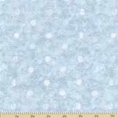 Cupcakery Polka Dot Cotton Fabric - Blue