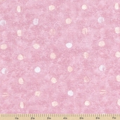 Cupcakery Polka Dot Cotton Fabric - Pink