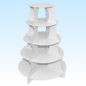 Cupcakes Dessert Tower - White