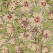 Curio Cotton Fabric - Floral Green