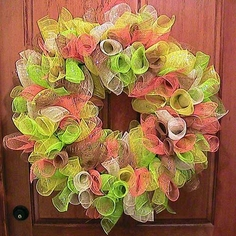 Curly Deco Mesh Wreath