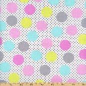 Cute Zoo Adorable Dots Cotton Fabric - Multi CX5893-MULT-D