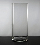 Cylinder Vase 12in - Clear Glass