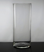 Cylinder Vase 14in - Clear Glass