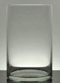 Cylinder Vase 8in - Clear Glass