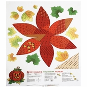 Daisy Kingdom Pumpkin Panel Felt Fabric - White
