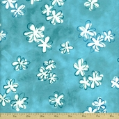 Daisy Love Daisies Flannel Fabric - Spring