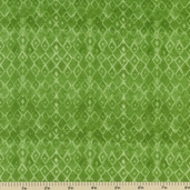 Dance of Life Geometric Cotton Fabric - Green 22340-H