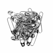 Darice Coiless Safety Pins 1-1/8 inch - Nickel - 6 Pkgs