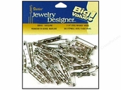 Darice Jewelry Designer - 1.25 inch Steel Pin Backs