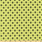 Day for Night Floral Dots Cotton Fabric - Green 35368-3