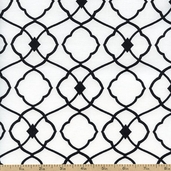 Day for Night Large Lattice Cotton Fabric - White 35366-1