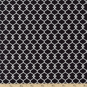 Day for Night Lattice Cotton Fabric - Black 35367-2