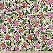 Daydreams Crayon Tulips Cotton Fabric - Multi 120-2861