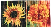 Daydreams II Cotton Fabric - Peony/Sunflower Panel