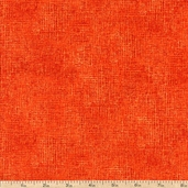 Days Of Autumn Burlap Blender Cotton Fabric - Orange