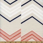 Dear Stella Chevron Cotton Fabric - Sand STELLA-155