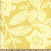 Dear Stella Lola Jacobean Cotton Fabric - Citron