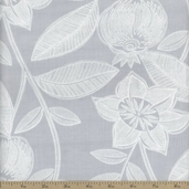 Dear Stella Lola Jacobean Cotton Fabric - Sterling
