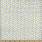 Dear Stella Lola Zig Zag Cotton Fabric - Sterling