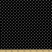 Debi Cotton Fabric - Dots - Black
