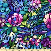 Deco Delight Cotton Fabric - Blue FAFF756-1