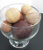 Decor Balls Assorted Sizes - Brown