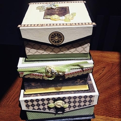 Decorated Paper Mache Boxes