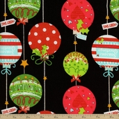 Decorations Ornamental Cotton Fabric - Black