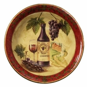 Decorative Ceramic Bowl - Wine - Clearance
