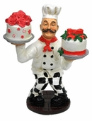 Decorative Chef - Baker with Cakes