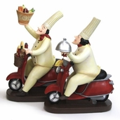Decorative Chef - Fat Chefs on Scooter Set of 2