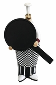 Decorative Chef - French Fat Chef With Chalk Board Menu