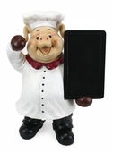 Decorative Chef - Pig Chef With Chalk Menu Sign Board
