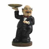 Decorative Chef - Waiter Fat Chef Holding A Tray Platter